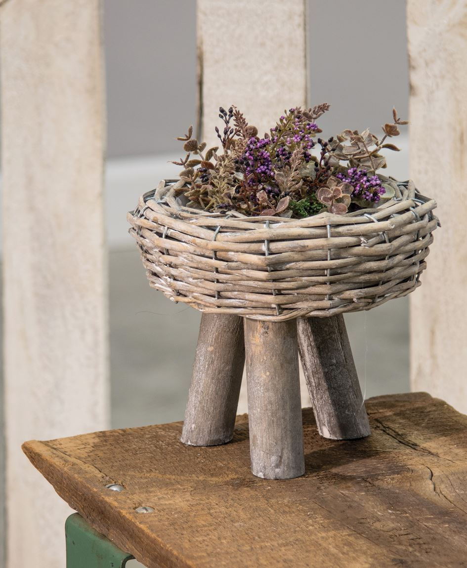 Craft House Designs  Wholesale Willow Basket Planter Large