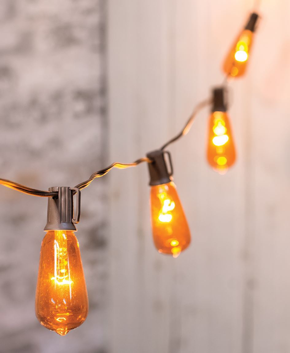 Craft House Designs Wholesale Orange Edison String Lights