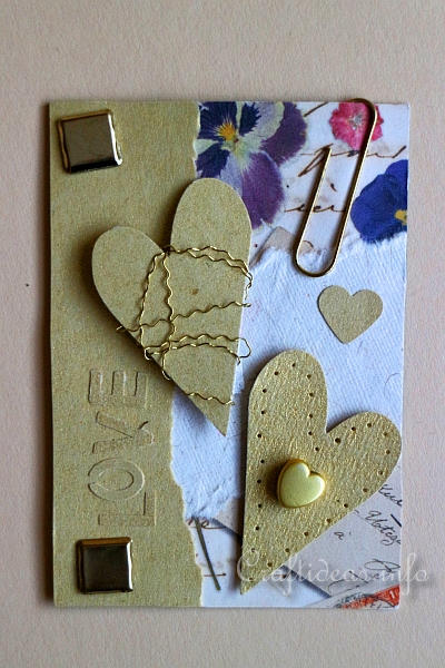 Free Craft Project Artist Trading Card Vintage Love ATC