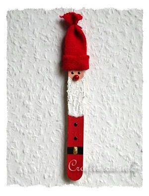Christmas Crafts For Kids Popsicle Stick Santa Claus