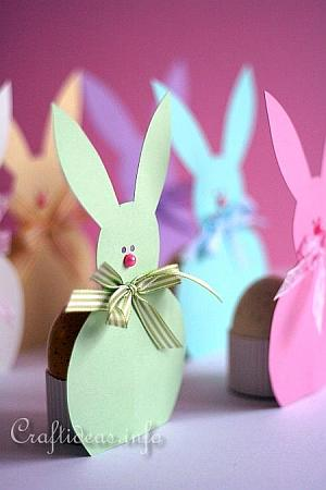 Easter Bunny Paper Egg Holders 3