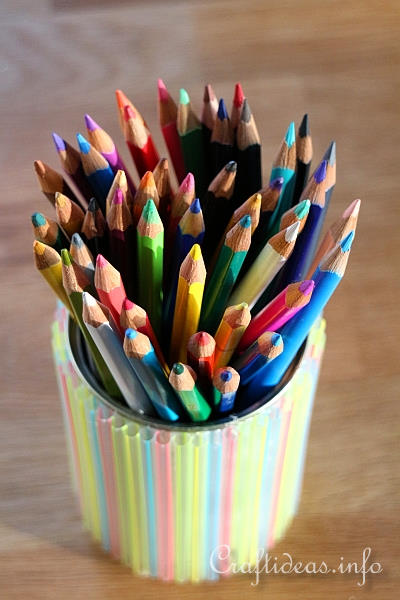 Free Kids Craft Project  Pencil Holder