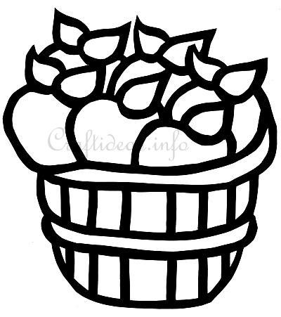 Free Craft Template for an Apple Basket Suncatcher