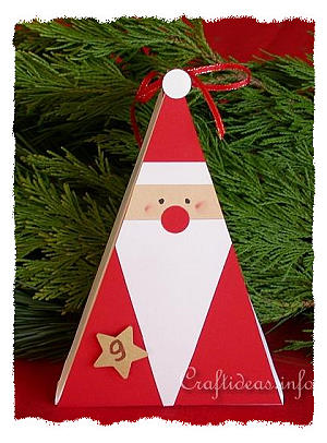 Free Christmas Crafts Paper Crafts Santa Claus Gift Box