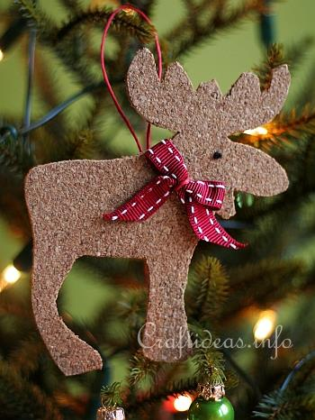 Cork Reindeer And Moose Tree Ornaments Made With Cookie