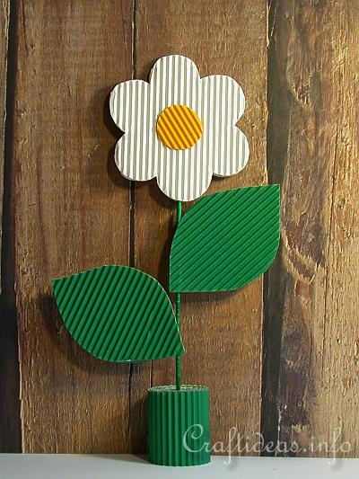 Mothers Day Craft for Kids Corrugated Cardboard Flower