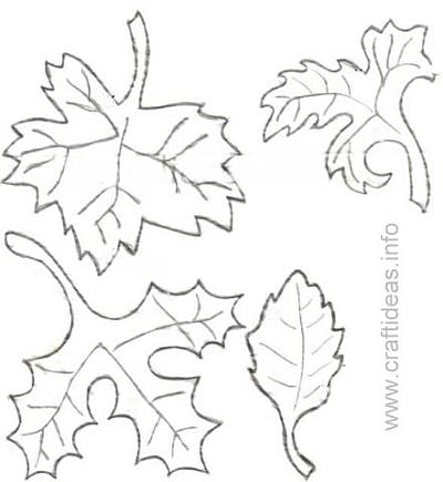 Free pattern for Fall Leaves