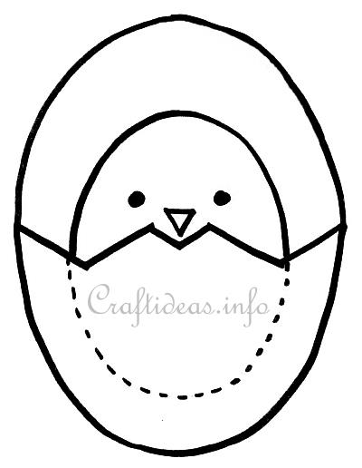 Chick and egg template