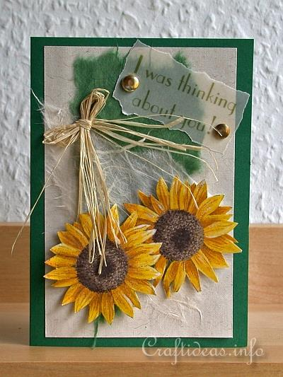 "Craft A Card For Autumn ""Sunflower Greetings"""