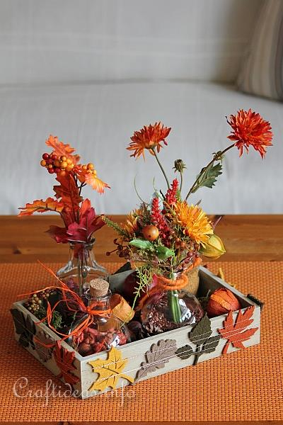 Autumn Decorating  Autumn Centerpieces Using Glass Vases and Jars