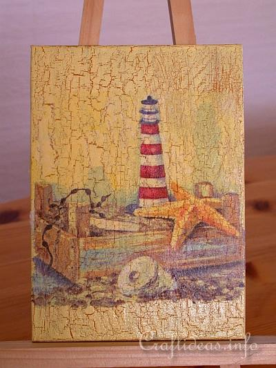 Free Craft Project Decoupage Paintings With Maritime