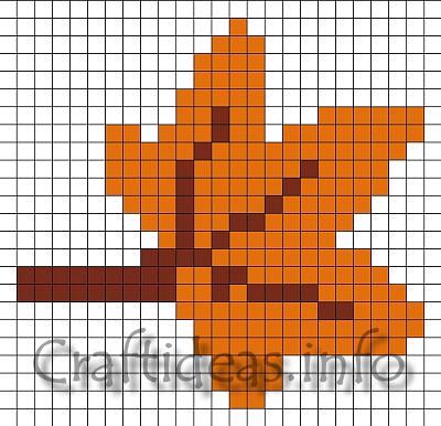 Craft Pattern  Fuse Beads or Perler Toadstool Mushroom