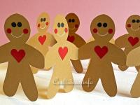 Paper Craft for Christmas - Gingerbread Man Garland