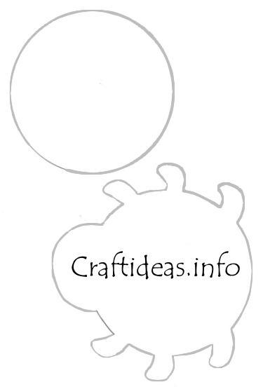 Spring Craft Pattern or Template- Lady Bug Tea Light Holder