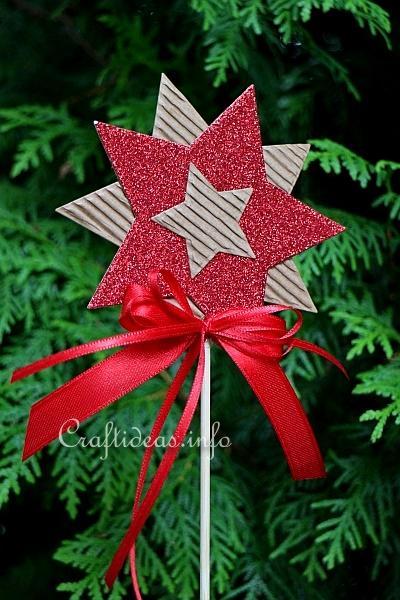 Christmas Craft Ideas Paper Star Plant Poke