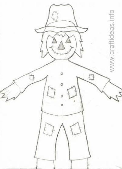 Free Pattern for a Wooden Scarecrow