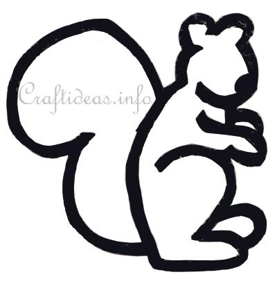 Free Craft Pattern for a Paper Squirrel
