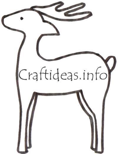 Wooden Reindeer Wood Craft Patterns PDF Plans
