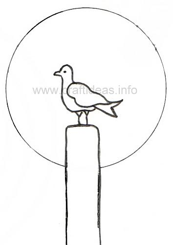 Free Craft Pattern For Summer Seagull And Sunset