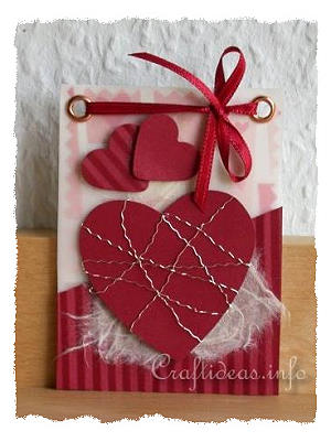 Free Artist Trading Card Craft Idea Red Hearts ATC