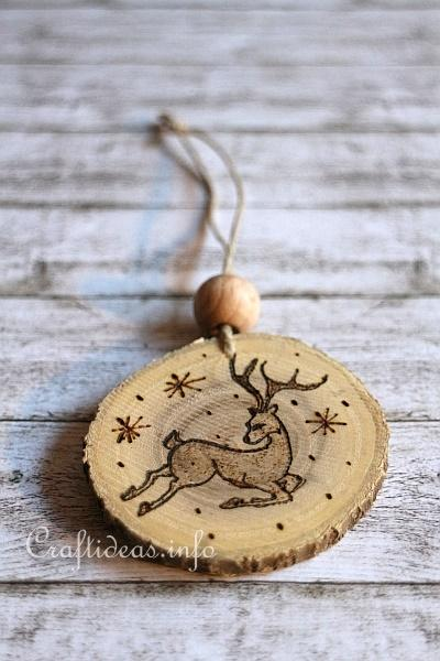 Wood Crafts For Christmas Wood Burned Christmas
