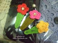 Crochet flower hairclips, more ideas - Craft Ideas