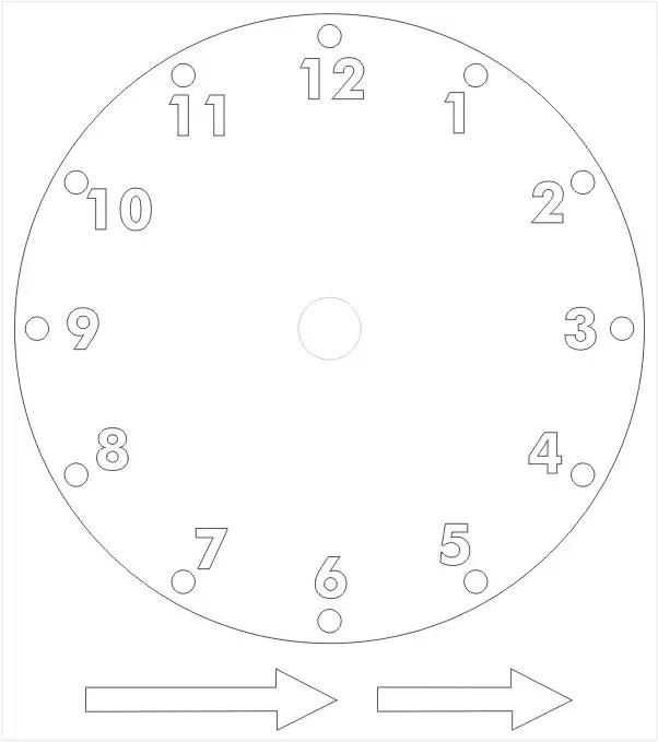 Printable Paper Clock Template