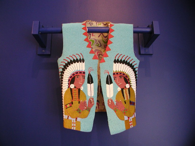 Yakama, Man's Beaded Vest, 1900-1920 at the Fuller Craft Museum