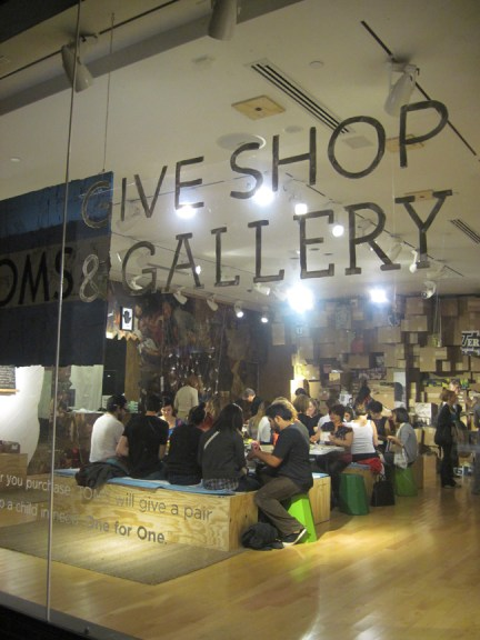 TOMS Give Shop & Gallery space at Space15twenty