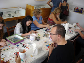Everybody spent an afternoon focused on experimentation, meditation and inspiration from eachother and the craft and art around them!