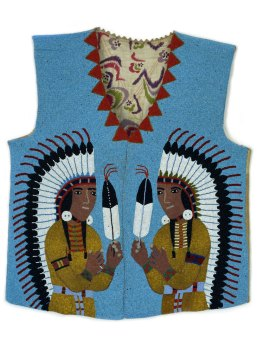 Spokane, Man's Beaded Vest, c. 1910-20