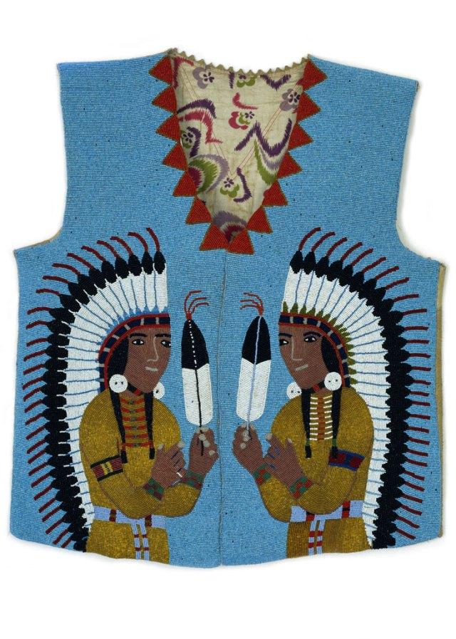 Spokane, Man's Beaded Vest, c. 1910-20