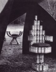Beer Can Chairs by Douglas Deed Associates Photo Taken From California Design 8, page 46. Catalogue Photographer Richard Gross
