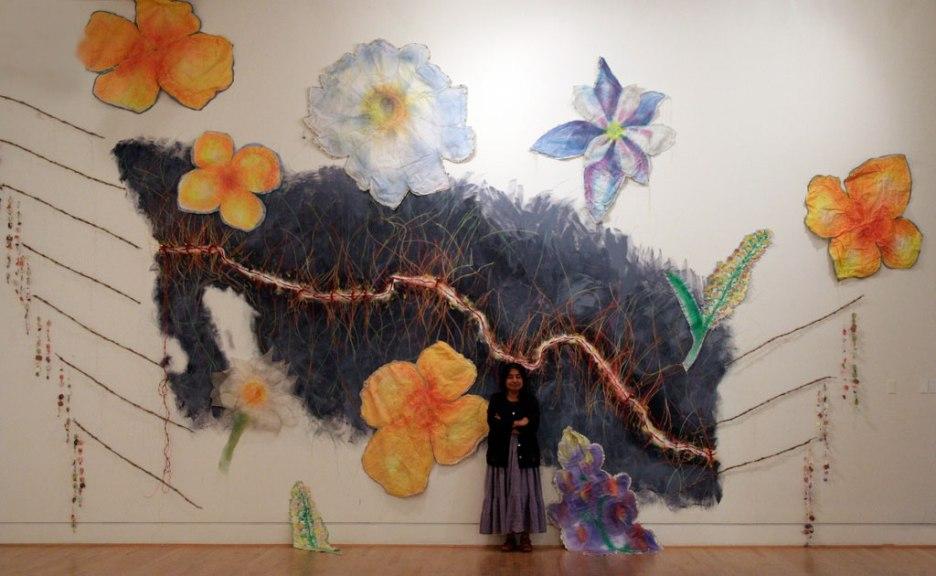 Consuelo Jimenez Underwood, Undocumented Border Flowers, 2010. Jim Dewran photograph