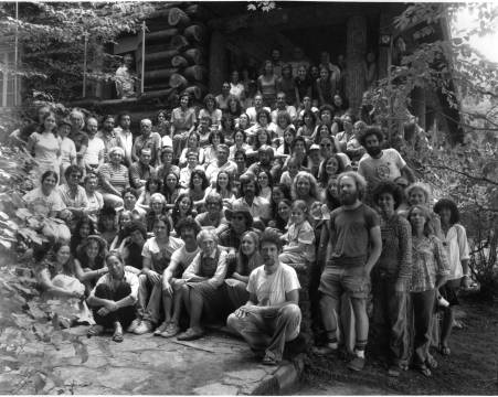 Penland community posing at the historic craft house
