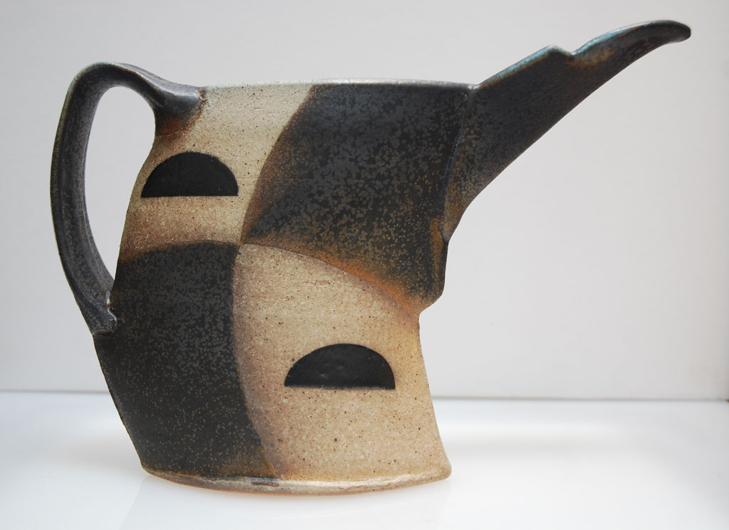 Jeff Oestriech, Beaked Pitcher, 2012. Stoneware, thrown and altered, soda fired, ceramic, Craft in America