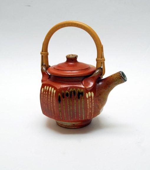 Andy Balmer, Teapot, 2013. Soda/salt-fired stoneware, Madison Metro photograph