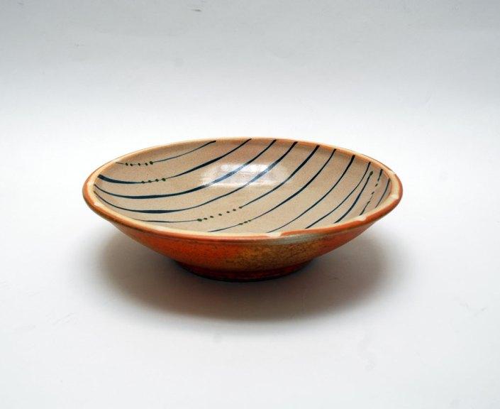 George Rector, Bowl, 2013. Stoneware, wood-fired, salt & soda glazed, Madison Metro photograph