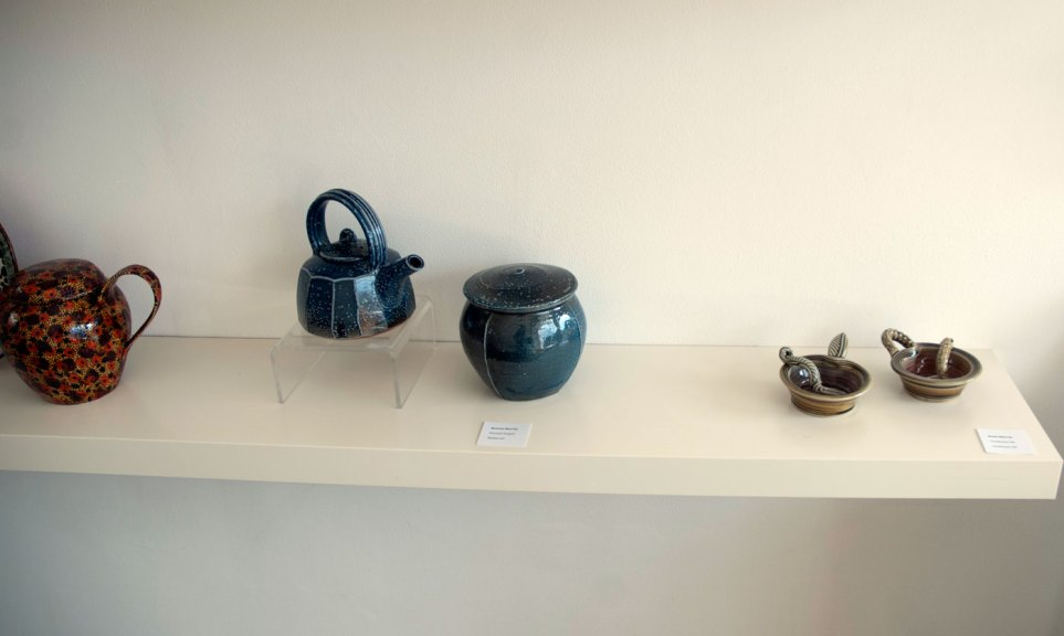 Renton & Rosie Murray, Renton Murray, Faceted Teapot Beaten Jar; Rosie Murray, Condiment Set, Madison Metro photograph