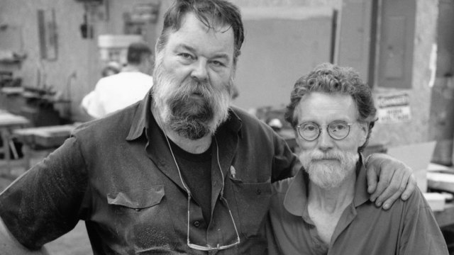 Garry Knox Bennett and Wendell Castle at Penland School of Crafts, Dana Moore Photograph