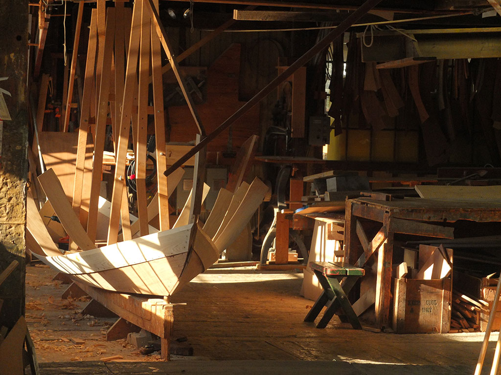 Lowell's Boat Shop dory in process. Mark Markley photograph