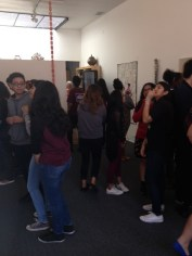 Fairfax High School students at the Craft in America Center
