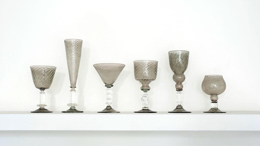 Kazuki Takizawa, Transparent Grey Goblets