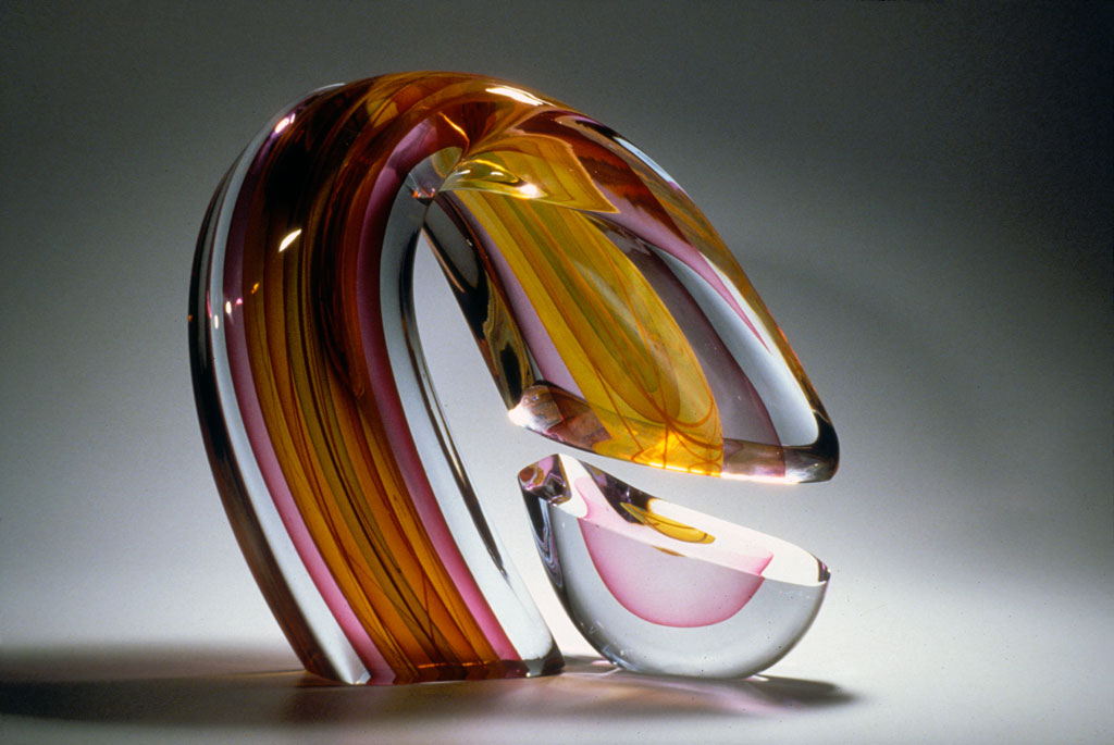 Harvey Littleton, Red Interrupted Descending Form, Courtesy of the American Craft Council