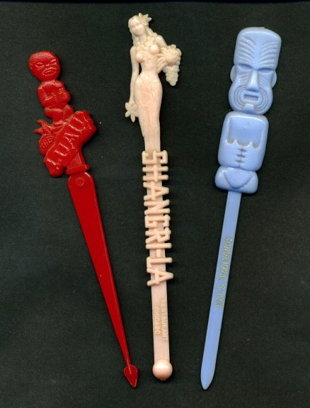 Cocktail swizzle sticks