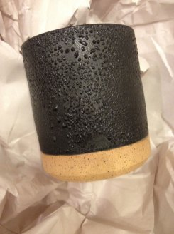Ben Medansky, Black Braille Cup, ceramic