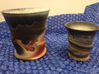 Matt Long, Mint Julep Cup and shot glass, soda-fired porcelain