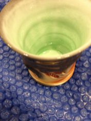 Green glaze: the perfect choice for a mint julep cup.