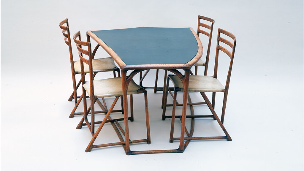 Wharton Esherick, Table and Chairs. Courtesy of Jack Lenor Larsen, Leonard Nones photograph