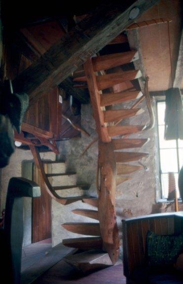 Wharton Esherick, spiral stair. M. Bascom photograph